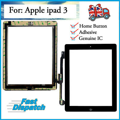For IPad 3rd Gen A1416 A1430 A1403 OEM Digitizer Touch Screen Replacement Black • 11.89£