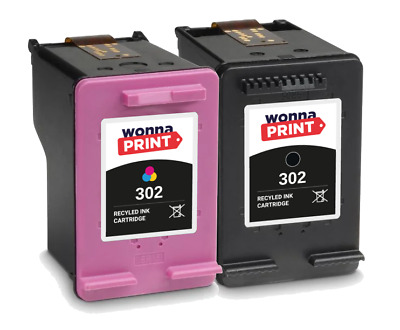 Refilled HP 302 Black / Colour XL Ink Cartridges For DeskJet 1110 Inkjet • 15.99£