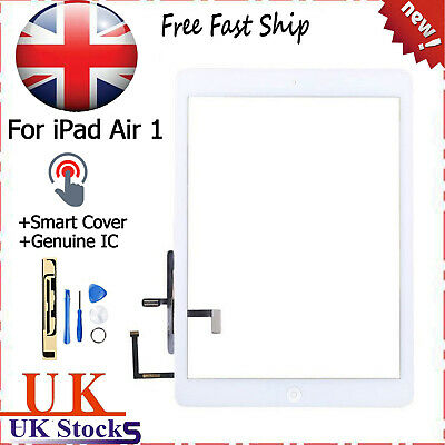 For IPad Air 1 A1474 A1475 A1476 White Digitizer Touch Screen Replacement OEM IC • 13.29£
