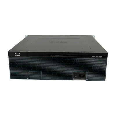Cisco 3945 Integrated Services Router 3945/K9 C3900-SPE150/K9 With Ears • 89.99£