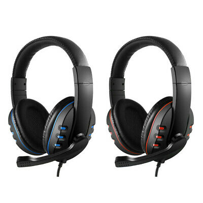 3.5mm Wired Gaming Headset Volume Control Headphones With Mic For Laptop Phone P • 9.99£