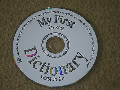 My First Dictionary Version 2.0 - 1998 CD Rom • 2£