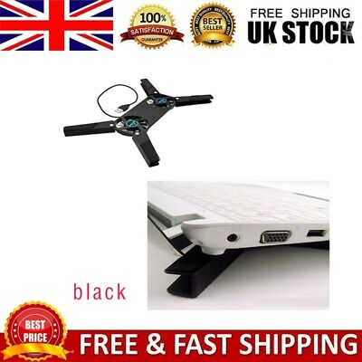 Foldable USB Laptop Notebook Tablet Dual Fans Portable Cooler Cooling Stand Pad • 6.19£