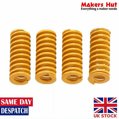 4 Pcs Yellow Hot Bed Leveling Springs For Creality Ender CR10 3D Printer • 4.99£