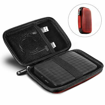 Duronic Hard Drive Case HDC2 /RD | RED | Portable EVA Storage Pouch For External • 5.99£