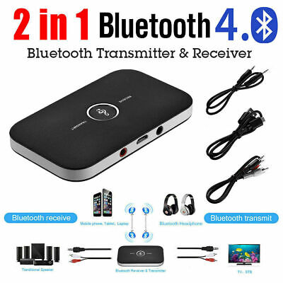 AUX RCA 2 In 1 Bluetooth Wireless Audio Transmitter Receiver HiFi Music Adapter • 8.69£