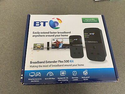 UNUSED - BT  Broadband Extender Flex 500 Kit - Black • 6.50£
