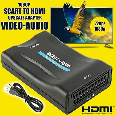 SCART To HDMI Composite 1080P Video Scaler Converter Audio Adapter For DVD TV UK • 8.99£