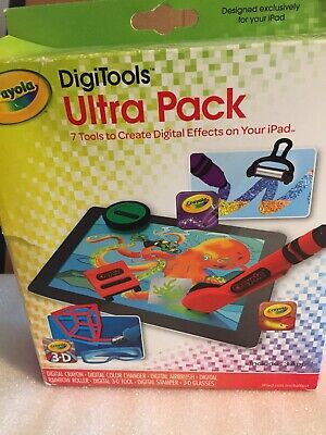 Griffin GC35976 Crayola Digitools Ultra IPad Accessory Pack Drawing 3D Glasses • 8.50£