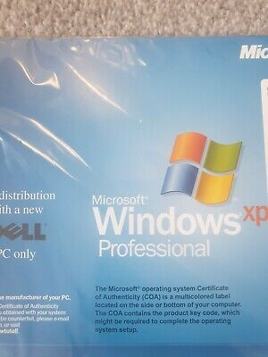 New Sealed Dell Microsoft Windows XP Professional SP2 2002 For PC & Laptop NEW • 9.99£