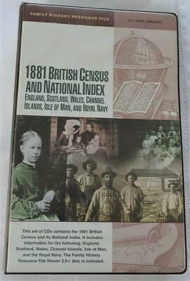 FAMILY HISTORY RESOURCE FILE - 25 CDs - 1881 BRITISH CENSUS & NATIONAL INDEX • 8£