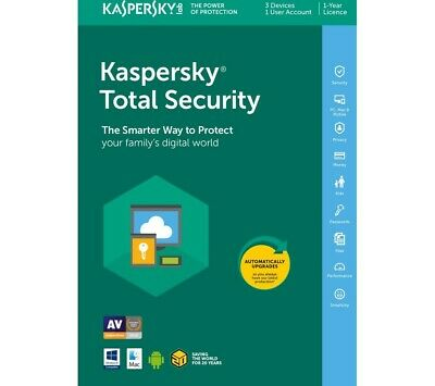 Kaspersky Total Security 2020 Antivirus UK [1 PC-1 Device] INSTANT DELIVERY • 5.99£