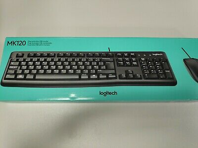 Logitech MK120 Desktop Wired USB Keyboard And Optical Mouse (Black) • 14.95£