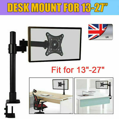 Single Arm Desk Mount LCD Computer Monitor Bracket Clamp Stand 13 -27  Screen TV • 13£