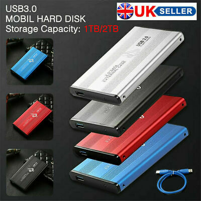 USB 3.0 2TB 1TB External Hard Drive Disks HDD 2.5'' Fit For PC Laptop Portable • 27.01£