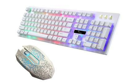 Gaming Keyboard Mouse Backlit Rainbow LED USB Set For PC Laptop PS4 Xbox One • 12.99£