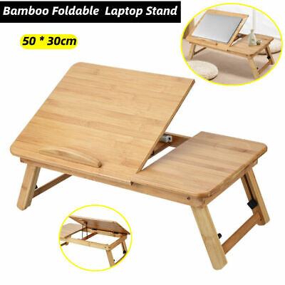 Foldable Laptop Table Tray Stand Lazy Sofa Bed Adjustable Notebook Study PC Desk • 12.48£