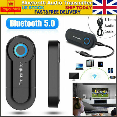 Bluetooth Audio Transmitter Wireless Stereo Sender Adapter USB For TV Speaker UK • 4.86£