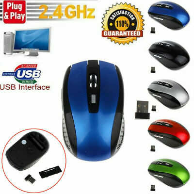 2.4GHz Wireless Cordless Mouse Mice Optical Scroll For PC Laptop Computer UK • 4.09£