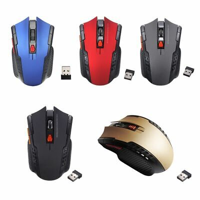 2.4GHz Wireless Cordless Mouse Mice Optical Scroll For PC Laptop Computer + USB • 3.99£