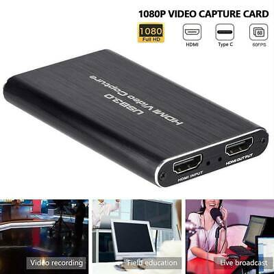 HDMI Video Capture Card 1080p HD Screen Recorder Game Video Display Streaming • 45.67£