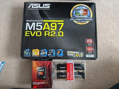 AMD FX-6300 Black Edition 6-core CPU + ASUS M5A97 EVO R2.0 + 16GB RAM Bundle • 82£