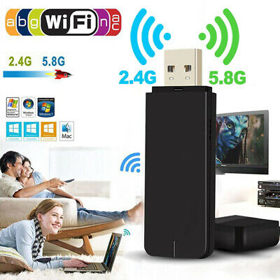 1200Mbps USB 3.0 Dual Band WiFi Dongle 5GHz/2.4G Wireless Network Adapter UK • 7.69£