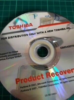 Toshiba Recovery Disk • 1£