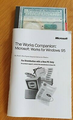 Microsoft WORKS Version 4.5 Windows 95 Or Later On CD  • 3.99£