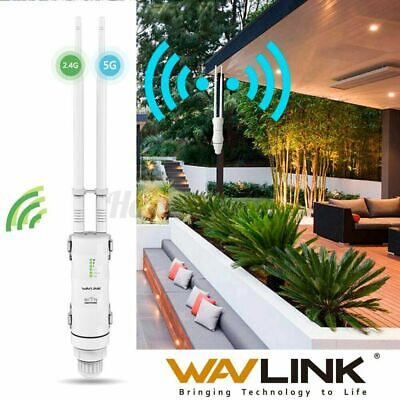 Wavlink AC600 WIFI Repeater. High Power Outdoor WIFI Extender. AP Booster 2.4G+5 • 39.99£