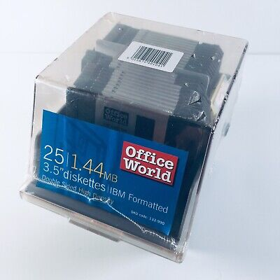 X25 1.44MB 3.5  Diskettes IBM Formatted Double Sided HD In Holder - New & Sealed • 34.95£