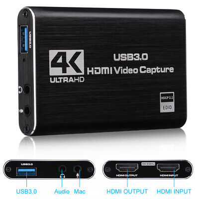 Free Game Broadcaster Microphone HD Video 1080P Recording Box Capture Card • 40.97£