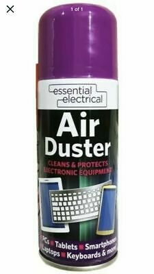 200ml Compressed Air Duster Spray Can Cleans Protects Laptops Keyboards • 5.29£