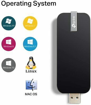 TP-LINK Wi-Fi Dongle AC1300 Wireless Dual Band USB Wi-Fi Adapter For PC V3 • 17.99£