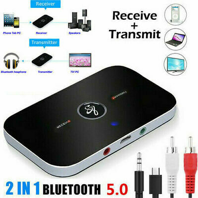 Bluetooth V4.0 Wireless Audio Transmitter Receiver HiFi Music Adapter AUX RCA UK • 6.69£