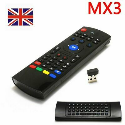 MX3 2.4G Wireless Remote Control Keyboard Air Mouse For MXQ Android XBMC TV Box • 6.49£