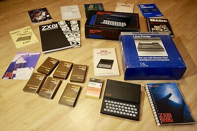 AWESOME Collectable Vintage Sinclair ZX81 Bundle, Printer, Books, Software *RARE • 78.66£