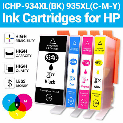 4 Ink Cartridge Replace For HP 934XL 935XL Officejet Pro 6812 6820 6230 6830 • 14.89£