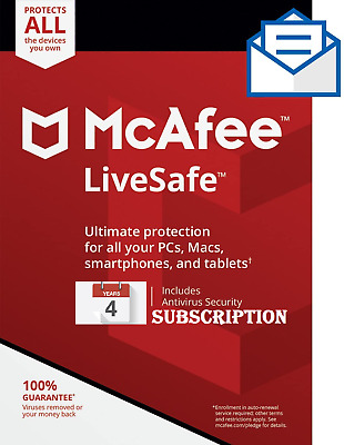 McAfee LiveSafe 2020 1 Device 4 Years With Download Link Quick Dispatch  • 5.99£