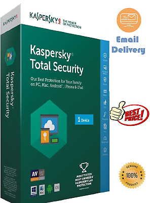 Kaspersky Total Security 2020  1 Device /PC Fast Email Delivery 1 Year  • 6.95£