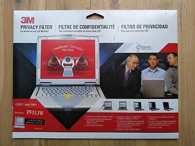 NEW & Sealed! 3M PF13.3W Privacy Filter Notebook Monitor 286,6 X 179,3mm (13.3 ) • 24.99£