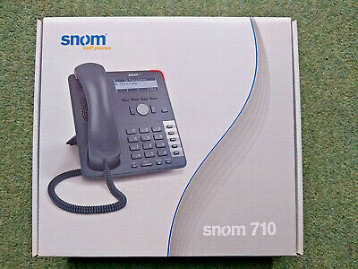 Snom 710 Business VoIP PoE Ethernet IP Phone Office Clearance • 24.99£