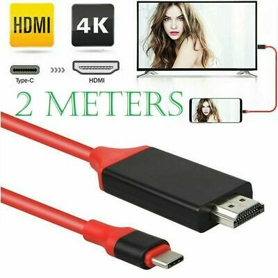 2M Type C To HDMI Cable Converter 4K HDTV USB Adapter For Samsung Galaxy HUAWEI • 7.19£