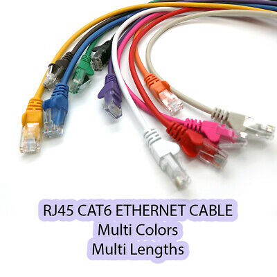 Ethernet Cat6 Cable Fast Network RJ45 Patch LAN Lead LOT Multi Colors / Lengths  • 4.95£
