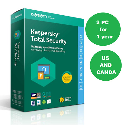 Kaspersky Total Security 2020 2PC 1 Year Antivirus Multi-device License • 8.99£