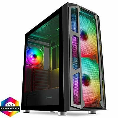F15 Mesh ARGB PC Gaming Case, E-ATX, 2 X 200mm ARGB Fans Included. • 89.99£