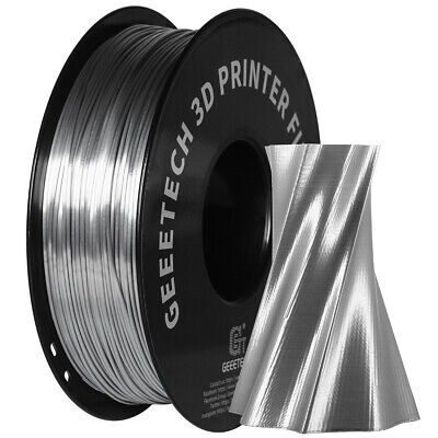 Fast Ship!Geeetech 1.75mm 1kg/roll Silk PLA Sliver Premium Filament 3D Printer • 18.99£