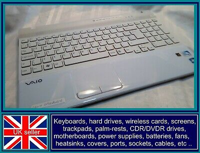 Sony Vaio Vpceb4e1e Palm Rest Keyboard Uk Qwerty Touchpad Buttons • 11.95£