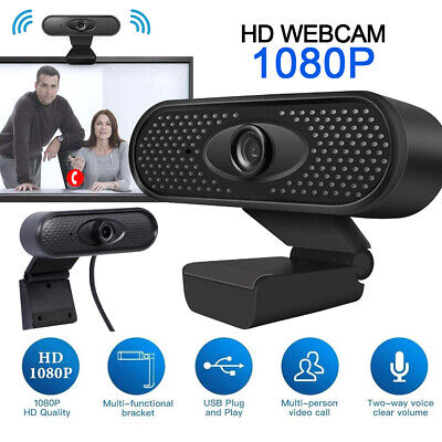 1080P Full HD Webcam With Microphone Video MIC USB For PC Desktop Laptop Camera • 11.18£