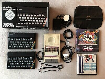ZX Spectrum 48k Boxed With 90 Games Tape Deck RF Lead & Original Manual & Power • 149£